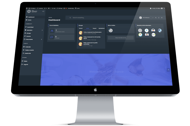 Web platform for YES Alliance